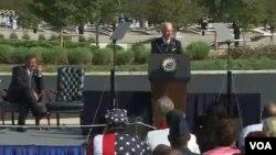 El vicepresidente Joe Biden, recuerda en sus discursos, las historias del día del ataque contra el Pentágono el 11 de septiembre de 2001.