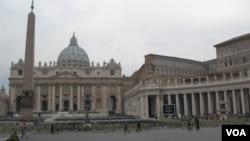 梵蒂冈圣彼得大教堂 (美国之音申华拍摄)