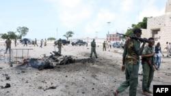 Le site d'un attentat des islamistes somaliens à Mogadiscio (AFP)