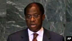 Alexis Thambwe Mwamba, ministre de la justice de RDC et représentant de la majorité présidentielle au dialogue, le 28 septembre 2009 à l'ONU. (AP Photo/Frank Franklin II)