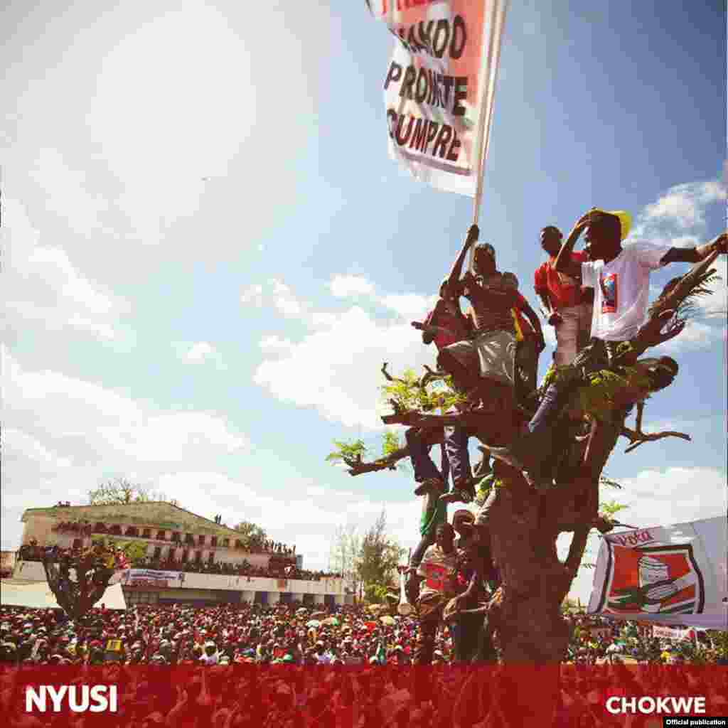 Campanha eleitoral do candidato Frelimo, Nyusi em Gaza. Moçambique 2014