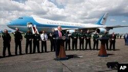 美國總統特朗普7月31日在佛羅里達州坦帕市參加一個有警察參加的競選活動並發表講話。