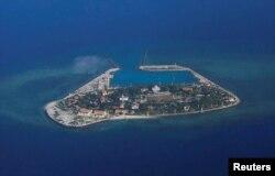 남중국해 스프래틀리 제도에서 베트남이 관활하는 푸가드 섬. (자료사진)
