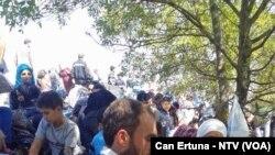 Edirne'de Avrupa Kapısına Dayanmış Sığınmacılar