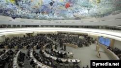 지난해 2월 스위스 제네바에서 열린 유엔 인권이사회. (자료사진)