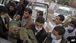 شلیک پولیس یمن بر احتجاج کنندگان