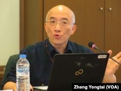 香港科技大学社会科学部副教授成名(美国之音张永泰拍摄)