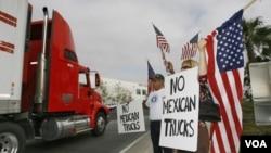 Los sindicatos estadounidenses se opusieron a que los camiones mexicanos entrataran a EE.UU.