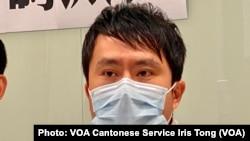 香港民主黨前立法會議員鄺俊宇表示,議會暫時沒有反對派,今年反而沒錢派 (攝影:美國之音湯惠芸)