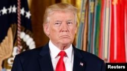 美国总统川普在白宫 (2017年7月31日)