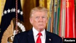 2017年7月31日,美国总统川普在白宫。