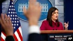 Пресс-секретарь Белого дома Сара Хакаби Сандерс