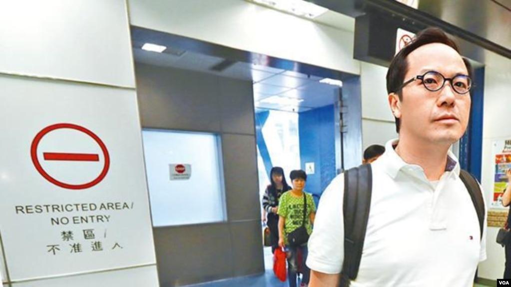 蘋果日報圖片民主派立法會議員梁繼昌從澳門返回
