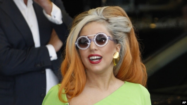 Lady Gaga arrives at the Sungshan airport in Taipei, Taiwan.