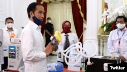 Indonesia memastikan kesiapan memproduksi ventilator secara massal bulan depan, Jakarta, 20 Mei. (Foto: Twitter/@BNPB_Indonesia)