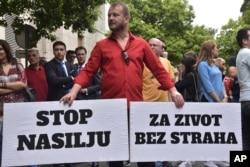 """Protest u Podgorici zbog napada na novinarku """"Vijesti"""" Oliveru Lakić"""