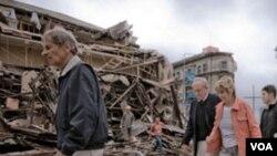 El terremoto de 6,3 grados de magnitud devastó unos cuantos kilómetros del sector céntrico de Christchurch.