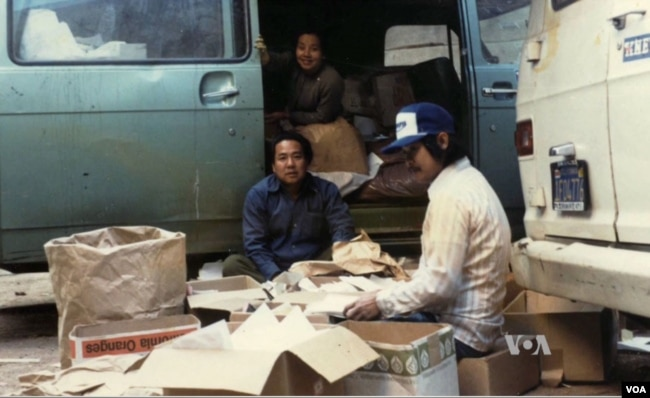 When David Duong's new immigrant family desperately needed money and started picking up cardboard on the street and sorting out recyclables. (Courtesy photo)