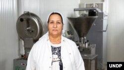 Masallıda yerli fabrikanın sahibi Göyçək Ələsgərova (UNDP Azerbaijan)