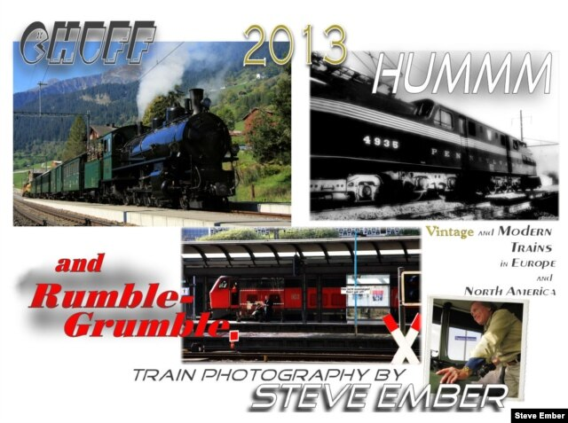 Trains are a popular subject for calendars (Steve Ember/VOA)