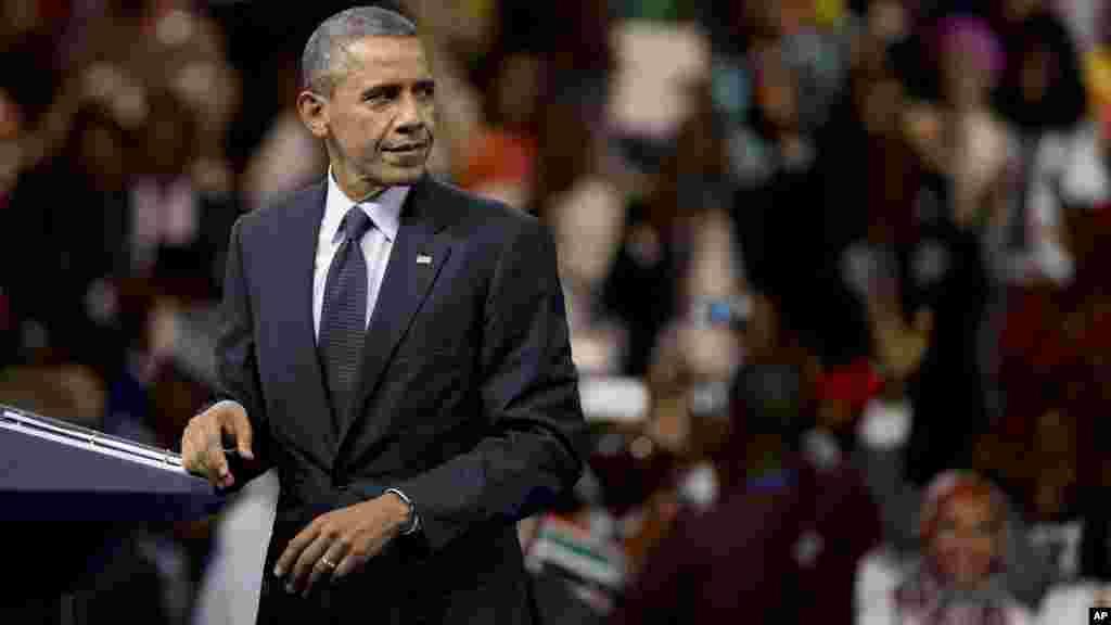 Shugaba Barack Obama a YALI 2015.