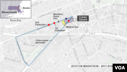 Sites of 2013 Boston Marathon bombings