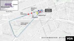 Sites of 2013 Boston Marathon bombings