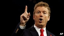 El senador Rand Paul expuso en público sus desacuerdos con el gobernador Christie.