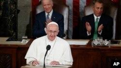 Đức Giáo Hoàng đọc diễn văn trước Quốc Hội Mỹ, ngày 24/9/2015.