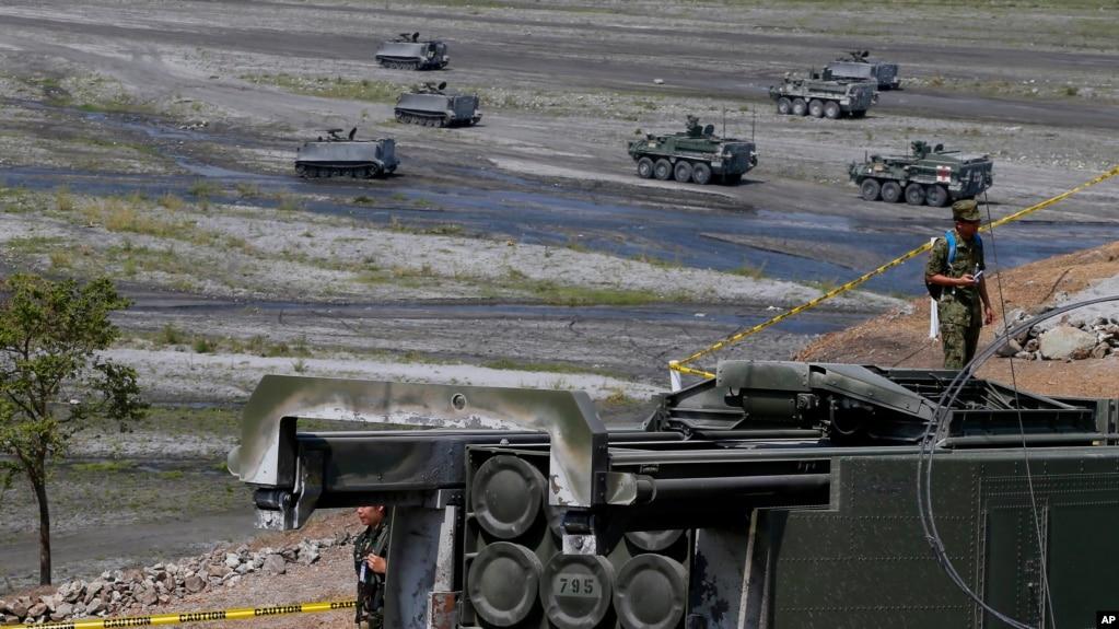 Hệ thống phóng rốc-két HIMARS của Mỹ tham gia cuộc thao dượt quân sự chung Mỹ-Philippines mang tên Balikatan năm 2016.