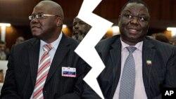 Mubatanidzwa weMDC Alliance unotarisirwa kubatanidza VaTsvangirai naVaBiti zvakare. (AP Photos/Collage by Ntungamili Nkomo)