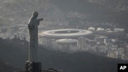 월드컵 결승전이 열릴 리우데나네이루의 마라카낭 주경기장 모습
