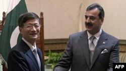 Bộ trưởng Nội vụ Rehman Malik và Bộ trưởng Công an Trung Quốc Mạnh Kiến Trụ tại Islamabad, ngày 27/09/2011