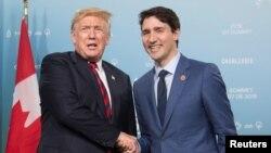 Donald Tramp i Džastin Trudo u Kvebeku