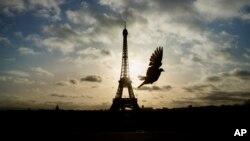 Le tour Eiffel, à Paris, le 15 novembre 2015.