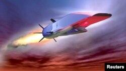Bức họa mô tả máy bay siêu thanh X-51A Waverider của Không quân Hoa Kỳ