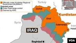 ქურთისტანის კონტროლქვეშ არსებული ერაყის ტერიტორიები
