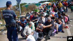Des Migrants en Hongrie.