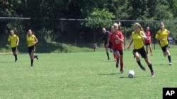 Soccer match, a high-level U-13 youth team near Washington -- Real Maryland FC