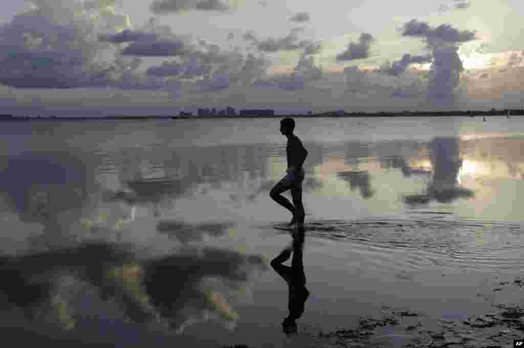 غروب آفتاب در میامی فلوریدا