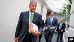 """John Boehner dijo que era """"la decisión correcta para este equipo y para este país""""."""