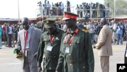 South Sudan senior security officers, during July 9th independence celebrations in Juba.