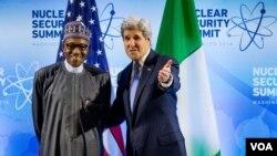 Shugaba Buhari da Sakataren Harkokin Wajen Amurka John Kerry