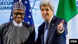 Shugaban Najeriya Buhari da Sakataren Harkokin Wajen Amurka, John Kerry