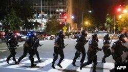 Polícias perto da Casa Branca, em Washington
