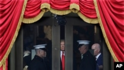 Le président américain Donald Trump, lors de son inauguration au Capitole à Washington, le vendredi 20 janvier, 2017.