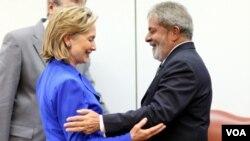 La secretaria de Estado, Hillary Clinton, volverá a encontrarse con el saliente presidente de Brasil, Luiz Inácio Lula da Silva.