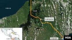 巴拿马运河地图