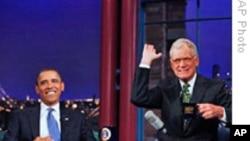 奥巴马在搞笑脱口秀节目中露面