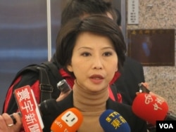 台湾在野党民进党立委陈亭妃(美国之音张永泰拍摄)